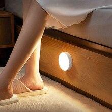 Sanmusion led night light mini controle sensor de luz redonda nenhuma cintilação nightlight lâmpada parede para crianças crianças cozinha quarto