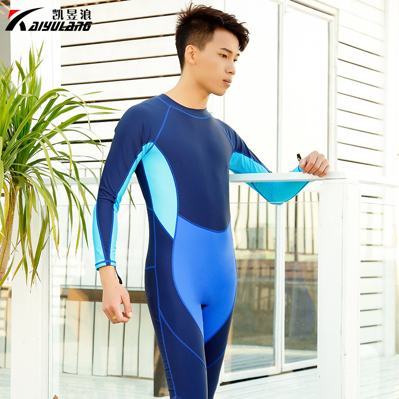 UV-Protection Diving Suit One-piece Sun Protection Clothing Long Sleeve Jellyfish Clothing Snorkeling Swimwear Men Surf Clothes