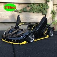 NewTechnic moc 39933 Lamborghini 100 year Centenario 1:8 hypercar Super Racing Car Fit Lepinings Model Building Blocks Toy Gift