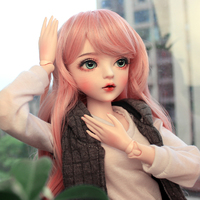 60cm 1/3 BJD Dolls Mechanical Joints Princess Doll Set Pink Sports Girl(Included Eyes + Handmade Makeup + Full Clothes As Shown)
