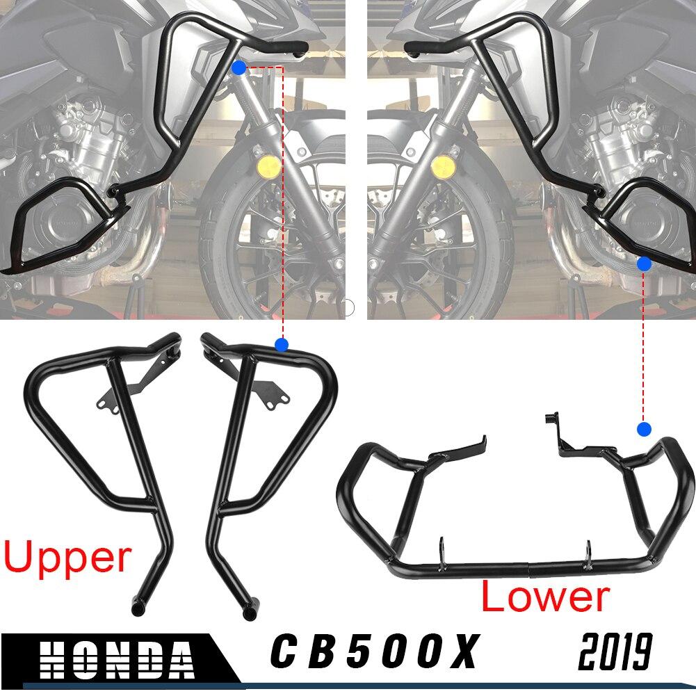 Moto moteur garde Crash Bar carénage cadre protecteur supérieur inférieur pour Honda CB500X CB 500 X CB 500X2019