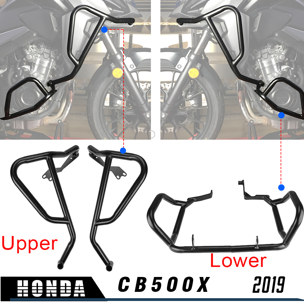 Motorcycle Engine Guard Crash Bar Fairing Frame Protector Upper Lower for Honda CB500X CB 500 X CB 500X 2019|Covers & Ornamental Mouldings|   - title=