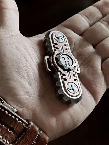 bm motosserra louco diabo fingertip giroscopio duas paginas espiral de descompressao brinquedo colecao bolso multi