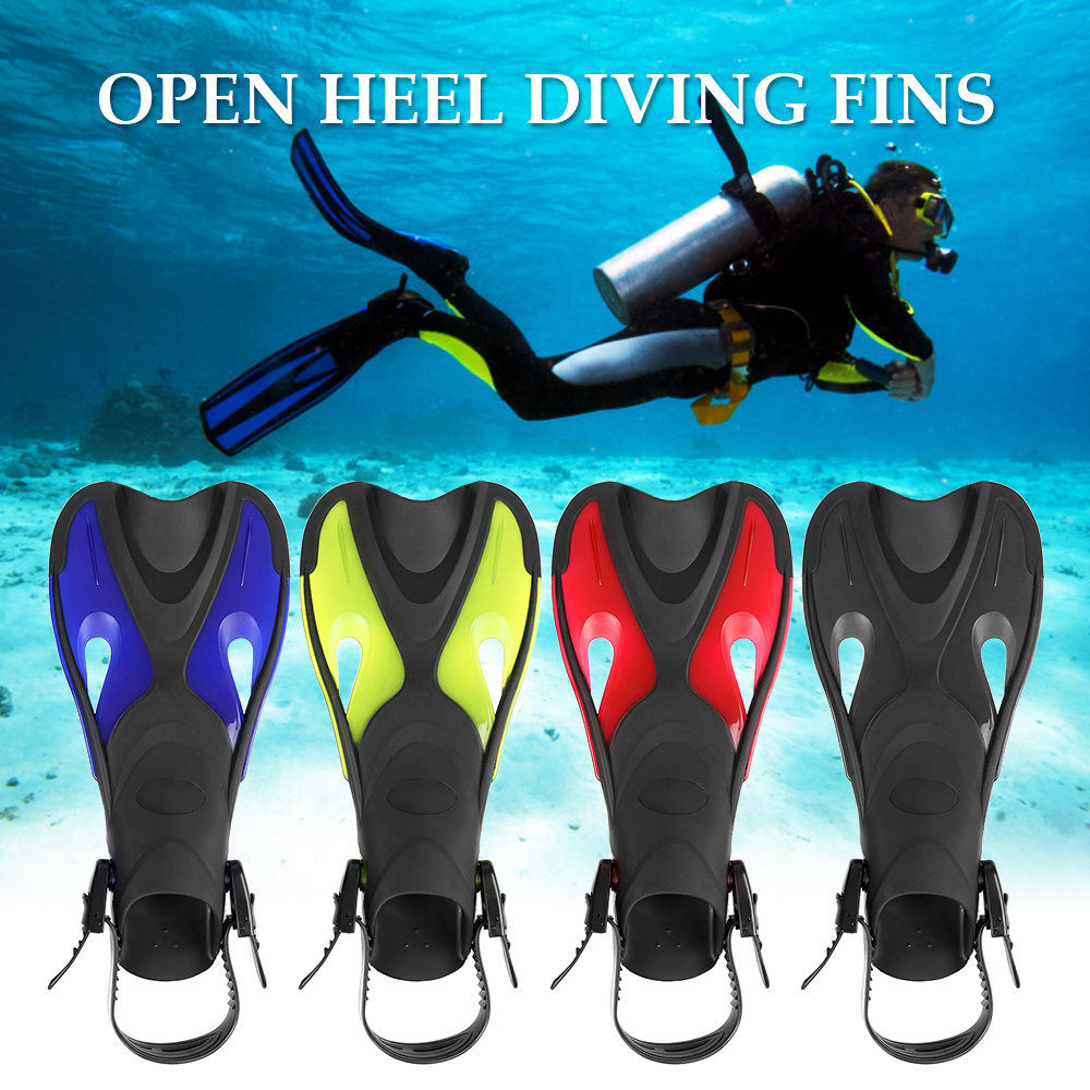 2019 Adults/Kids Anti-slip Swimming Fins Adjustable Strap Diving Fins Open Heel Swim Fins Flippers Snorkeling Scuba Equipment
