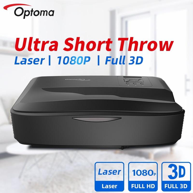 Optoma Ultra Short Throw лазерный проектор Full HD 1080P инженерных проектор Blu-Ray 3D Кино 4000/5000 люмен для дома Театр