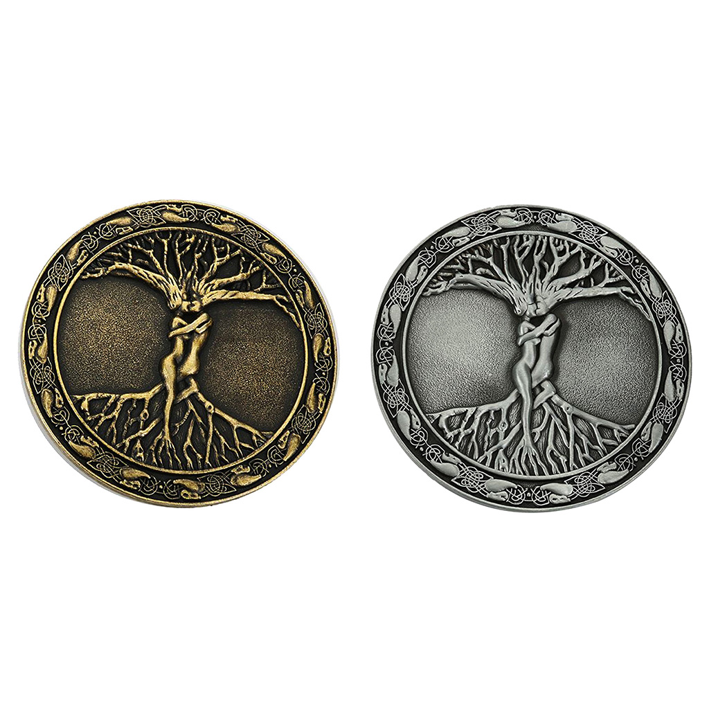 2x Tree Of Life Belt Buckle For Men Western Belt Buckles Round Cowboy Buckle