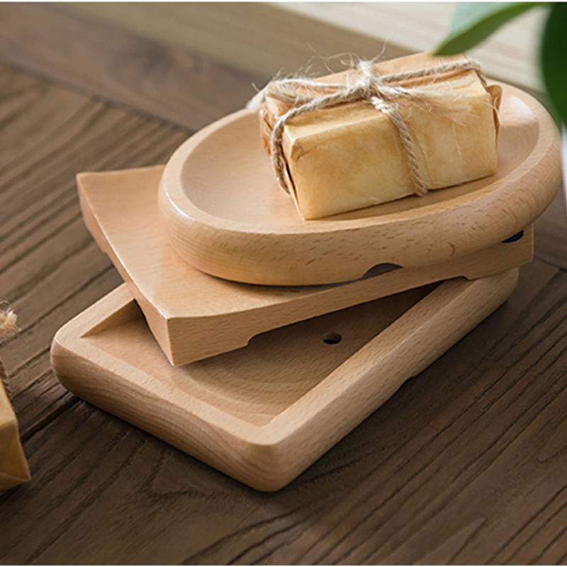 Natural Wooden Bamboo Soap Dish Soap Rack Plate Box Container Hoolder Storage Bathroom Accessories For Bath Shower Plate