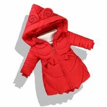 Новая детская зимняя куртка для девочек, детская теплая длинная куртка с хлопковой подкладкой, парка, худи для подростков, верхняя одежда