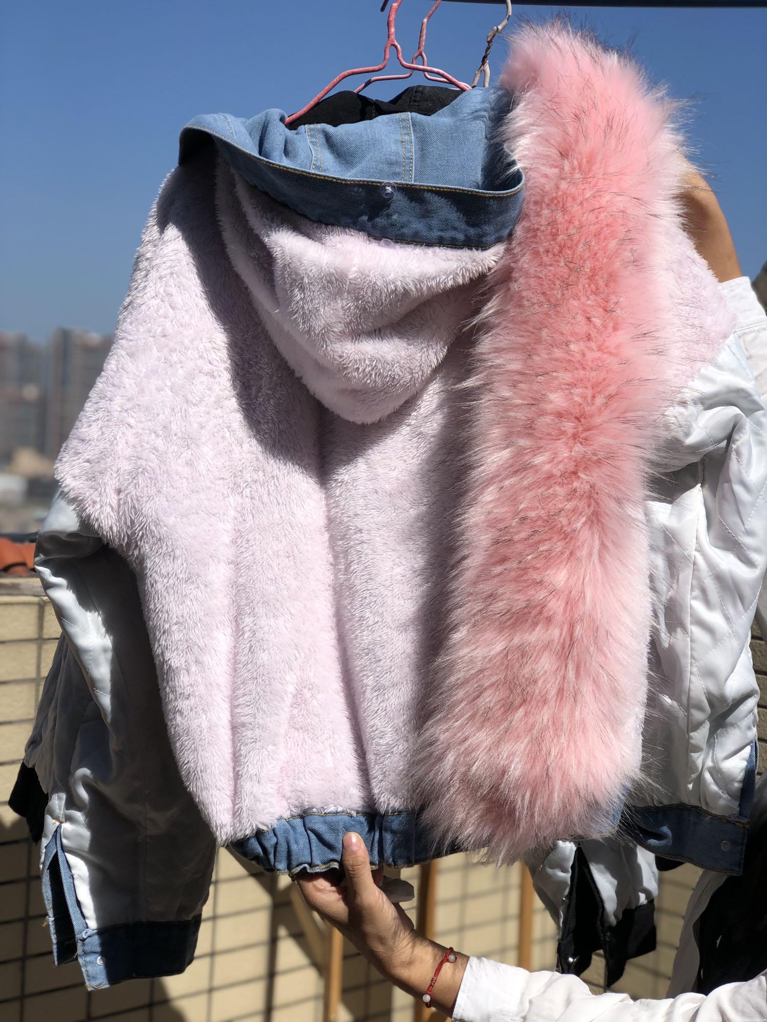 H2d7cb69a3c7f4b16b989c575b1f0f974z LUZUZI 2019 New Warm Winter Bomber Women Winter Autumn Hooded Girls Coat Jeans Denim Jackets Basic Ladies Top Windbreaker Female