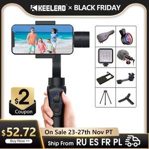 KEELEAD Gimbal Stabilizer S5B 3-Axis bluetooth Handheld With Focus Pull andZoom for Phone Xs Xr X 8 Plus 7 Action Camera