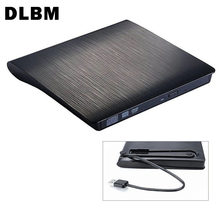 DLBM Portabel USB 3.0 DVD-RW Eksternal DVD Pemutar DVD Burner Writer Ultra Slim DVD ROM Pemain untuk Linux Windows mac OS(China)