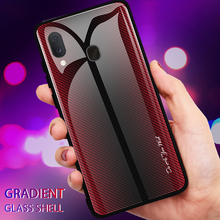Case+Tempered Glass For  Samsung Galaxy A10 Case Gradient Tempered Phone A10S A20S Cover Coque