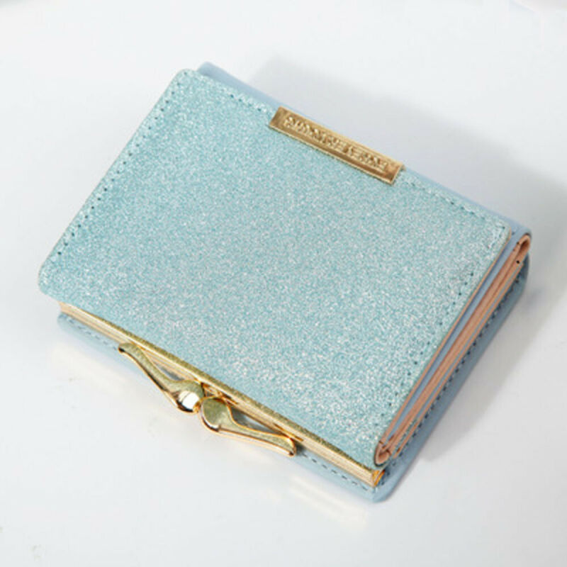NEW Fashionable Ladies Short Wallet PU Leather Mini Colorful Clutch Credit Card Holder Purse