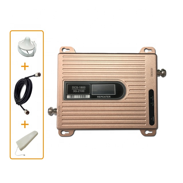 Repeater GSM 900 2100 Dual Band Repeater 2g 3g Booster WCDMA 2100MHz GSM 900mhz 3g W-CDMA Cell Phone Signal Booster Amplifier