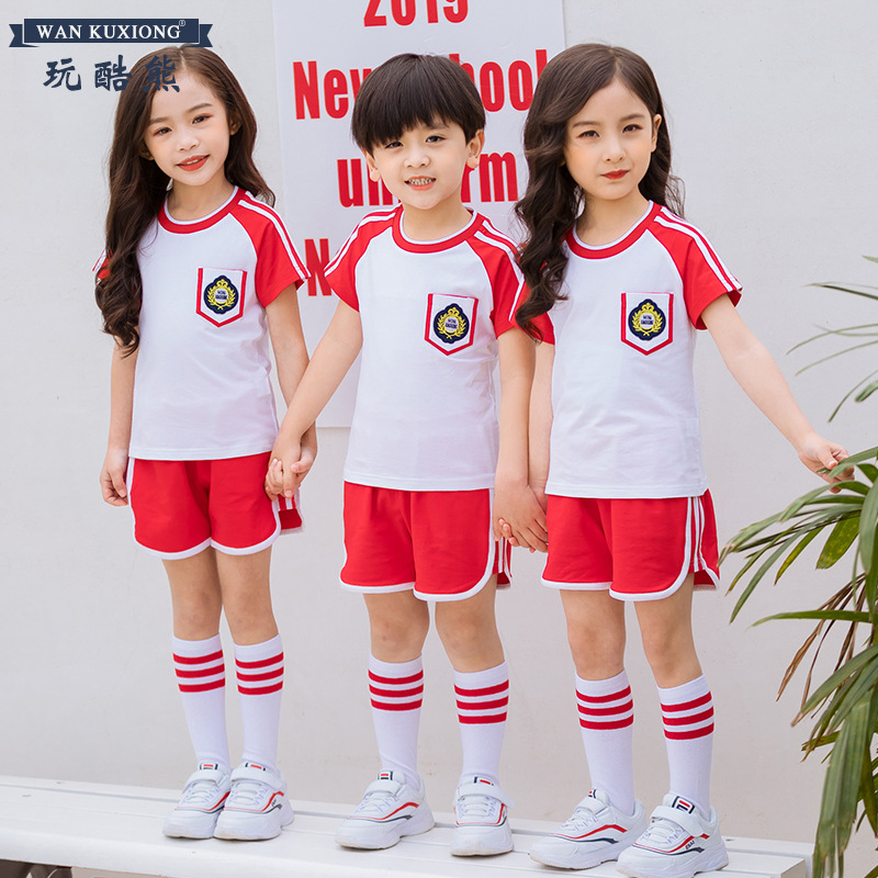 Play Cool Bear Men And Women Children Casual Sports Clothing Two-Piece Set 10 Kindergarten Suit Summer Wear Primary School STUDE