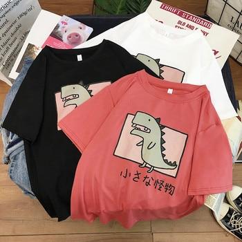 Harajuku T Shirt Women Summer Short Sleeve Kawaii Cute Cartoon T-shirt Girl Student Korean Style Loose Casual Tshirt Tops