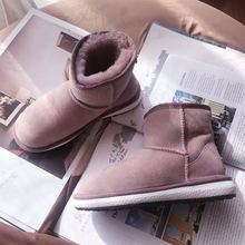 Snow-Boots Real-Sheepskin Women's MOOKIAPI Free-Delivery Wool High-Quality New 100%Natural