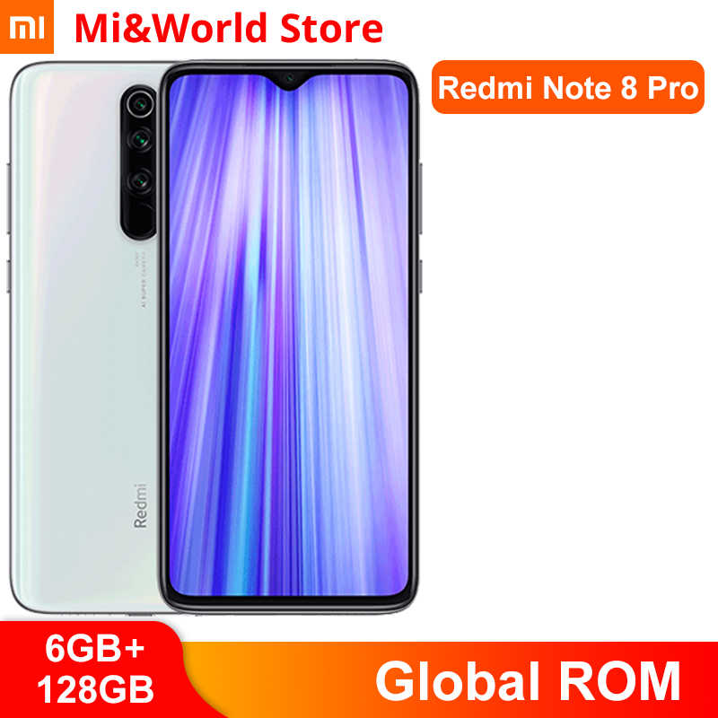 Global Rom Xiaomi Redmi Note 8 Pro 6Gb 128Gb 4500Mah 18W Qc 3.0 Mtk Helio G90T smartphone 64MP Quad Camera