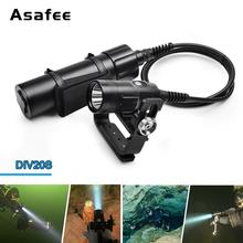 Asafee Scuba LED Diving Flashlight 1500LM CREE XHP35 Underwater 150M Professional  Led light Kit