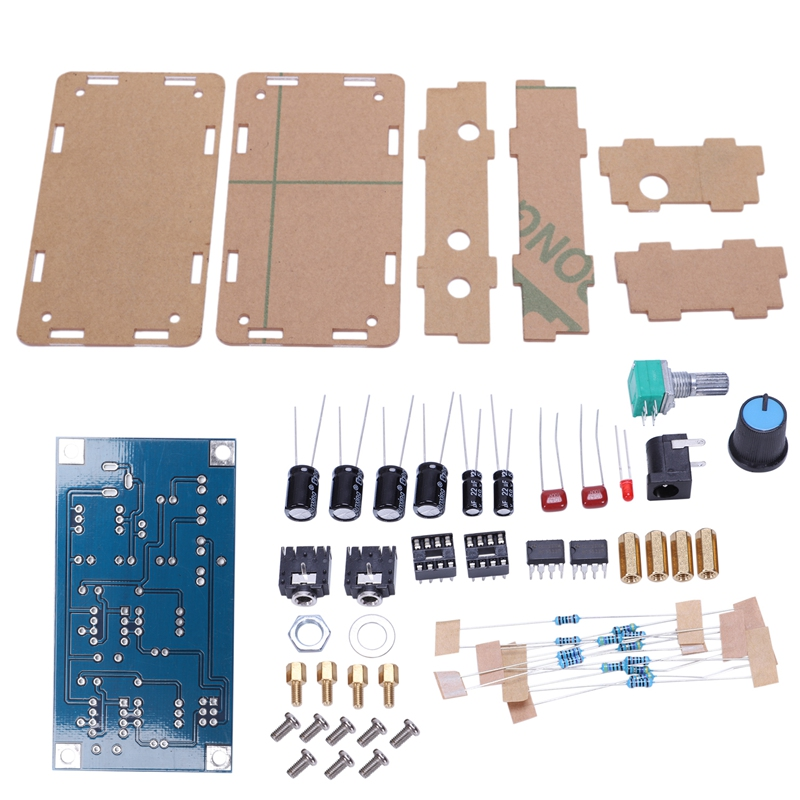 Portable Headphone Amplifier Board AMP Module Kits For Classic 47 DIY with Case