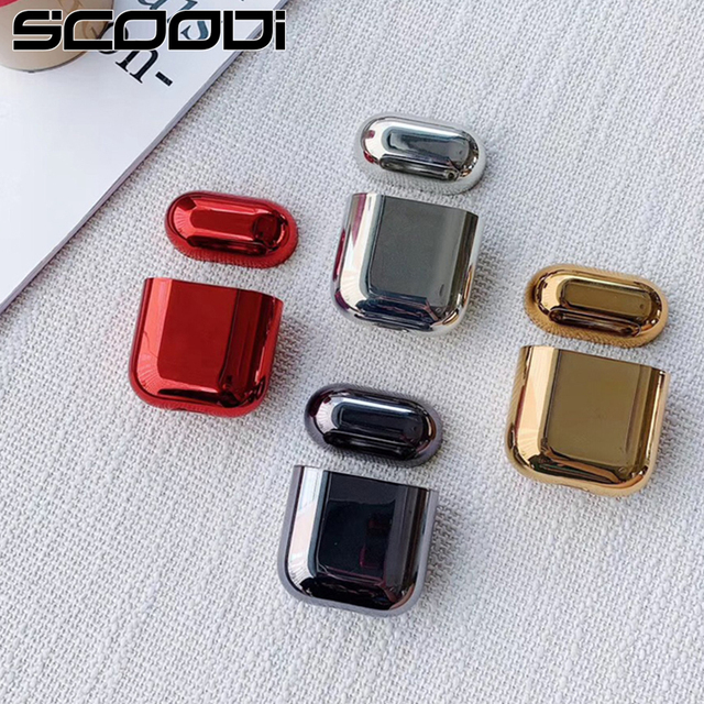 electroplated hard shell earphone shell for Apple Airpods protective case luxury gold box all new