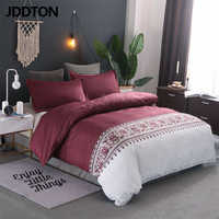 JDDTON Home Textile New Arrival Classical Style 2/3 PCS Bedding Set Simple and Elegant Quilt Cover and Pillowcase Cover BE120