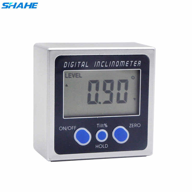 SHAHE Digital Angle Gauge Level Protractor Angle Finder Bevel Gauge Inclinometer with Magnetic Base Electronic Angle Gauge
