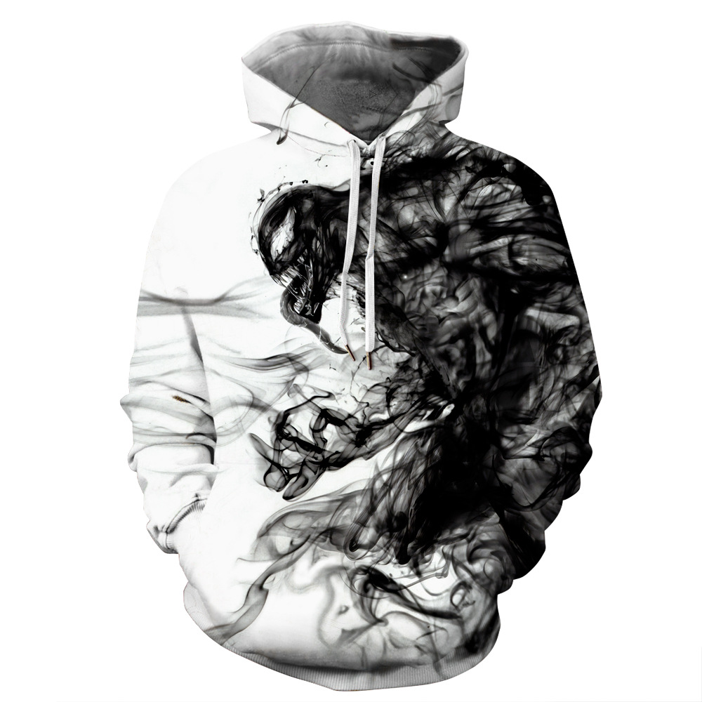 OKKDEY 2020 New Euro-American Autumn And Winter Venom Digital Printing 3D Digital Printing Men's Hoodie Hoodie Sweater 1