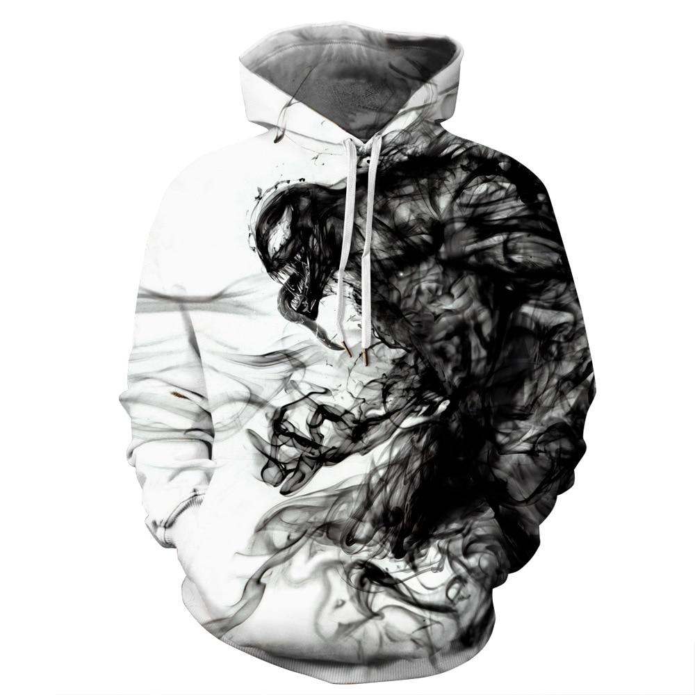 OKKDEY 2020 New Euro-American Autumn And Winter Venom Digital Printing 3D Digital Printing Men's Hoodie Hoodie Sweater 1