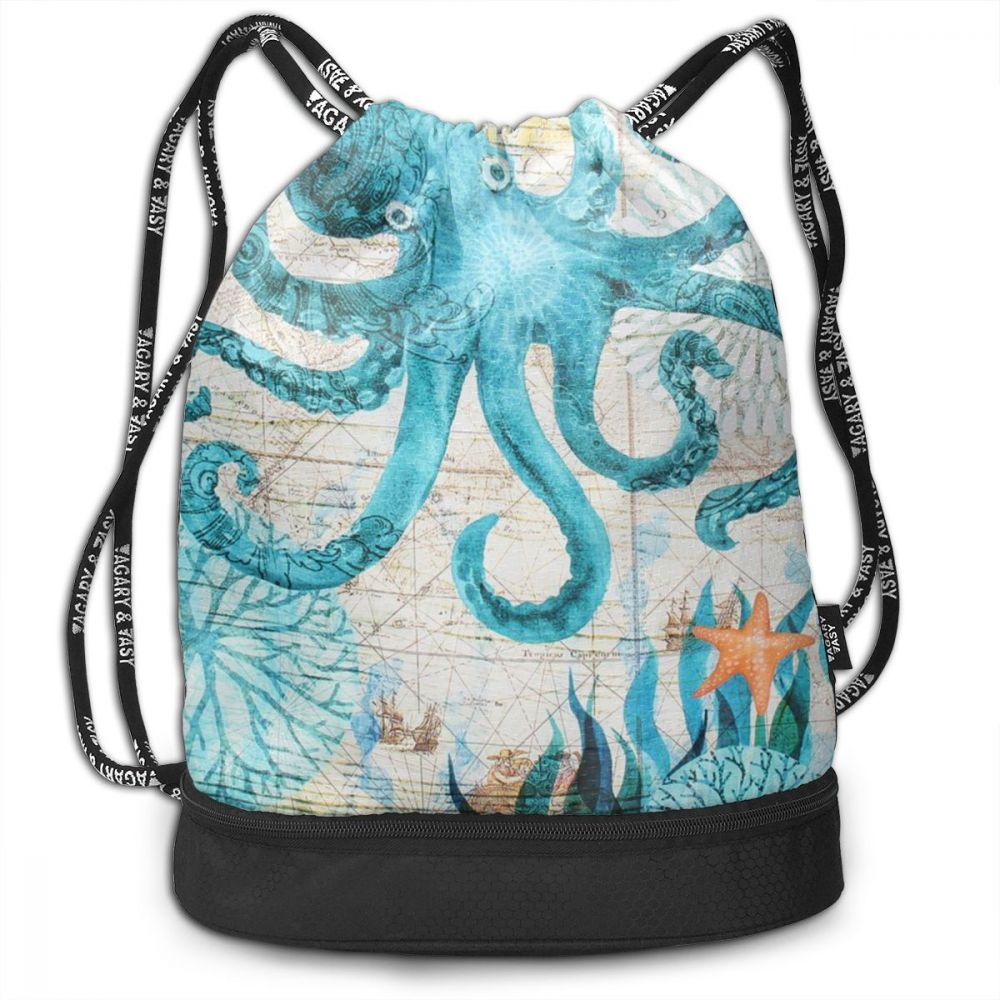 NOISYDESIGNS Daily Casual Girl's Knapsack Animals Octopus Print Travel Sports Shoes Dance Bag Pocket Female Travel Bag Bolsa