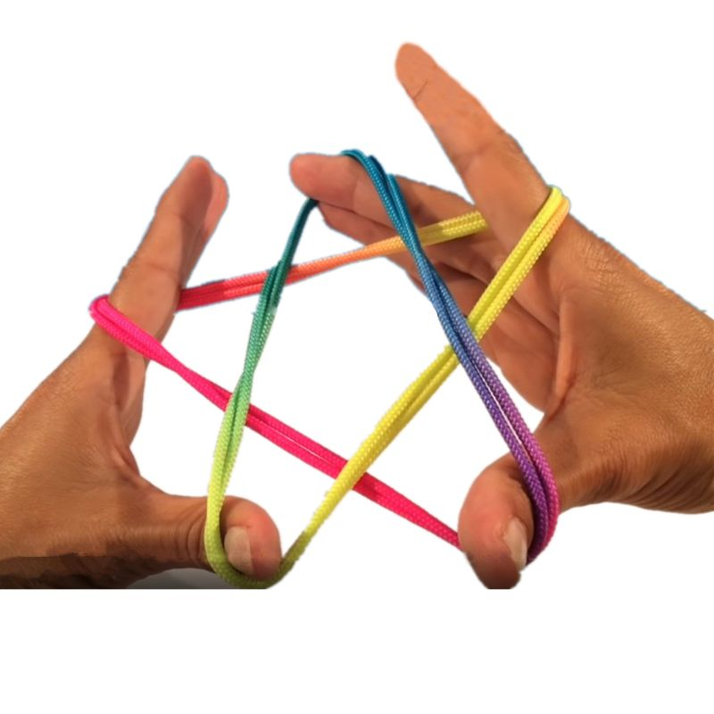 3 Pcs Kids Rainbow Colour Fumble Finger Thread Rope String Game Developmental Toy Puzzle Educational Game For Children Kids