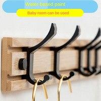 Tabla de bambú perchero percha, ganchos disponibles para bolsos ropa en pasillo entrada dormitorio Baño