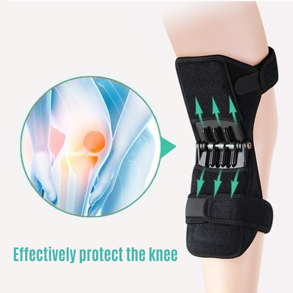 1 Pair Knee Protection Booster Power Lifts Joint Support Pads Powerful Rebounds Spring Force Old Cold Leg Knee Band for Sports