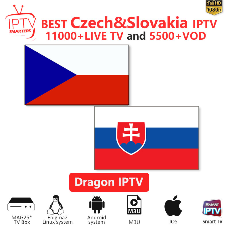 IPTV Subscription Czech IPTV M3U IPTV 10000+Live Channels For M3u Mag Box Smart Tv  Slovakia Iptv M3U Code Sports