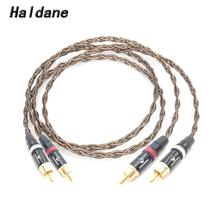 Haldane Pair HIFI 2 RCA to 2 RCA Audio Cable Nordost Odin Single Crystal Silver RCA Reference Interconnect Cable AV Audio Cable 3m nordost odin rca audio cable with carbon fiber rca audio hifi plug hifi rca cable