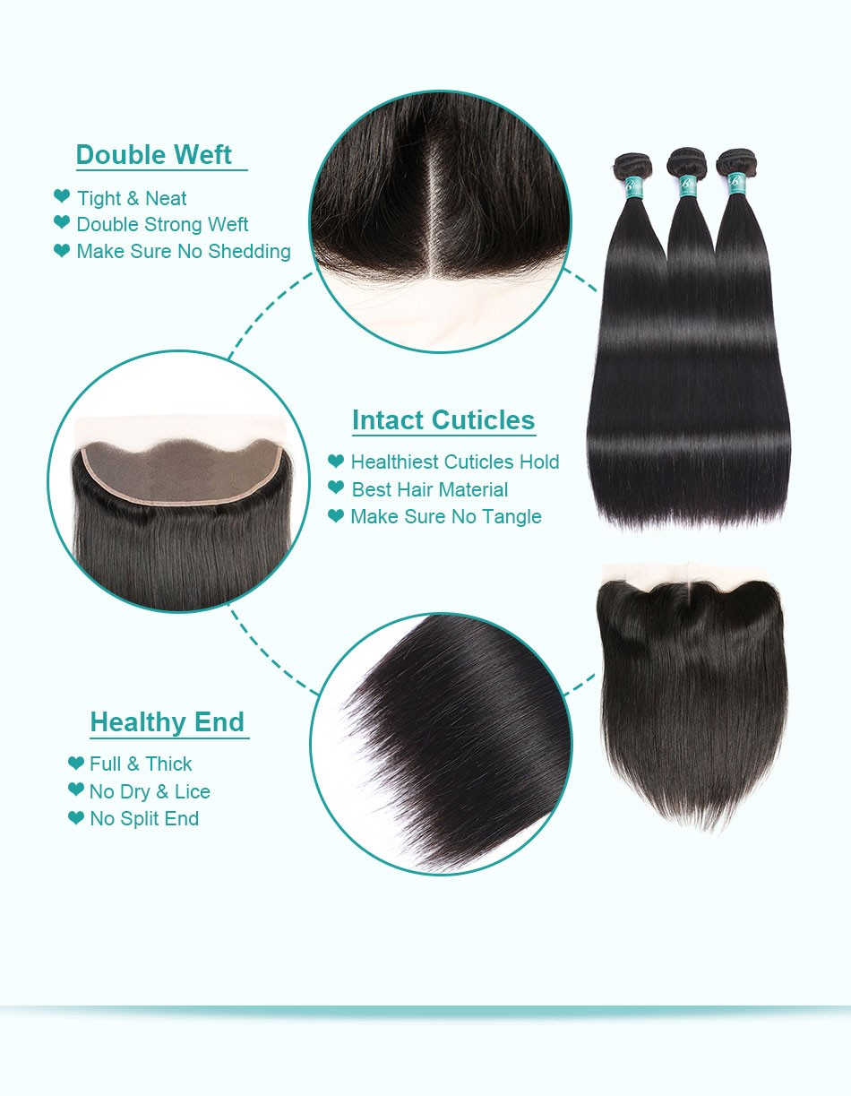 straight hair bundles with frontal3+13_07
