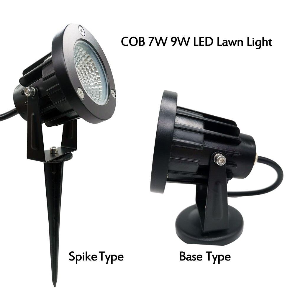 COB AC110V 220V DC12V COB 9w 3w 5w 7w IP65 Lawn Landscape Tree Garden Light Outdoor Led Spike Light Prikspot Tuinspot Lamp
