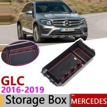 Para mercedes benz glc x253 glc coletor 200 250 300 220d 250d 43 63 amg 2016 ~ 2019 de apoio para braço organizador de caixa de armazenamento de carro acessórios