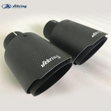 sebring The New Stainless steel carbon fiber car tail throat exhaust pipe modified muffler bright black tail pipe cover tips