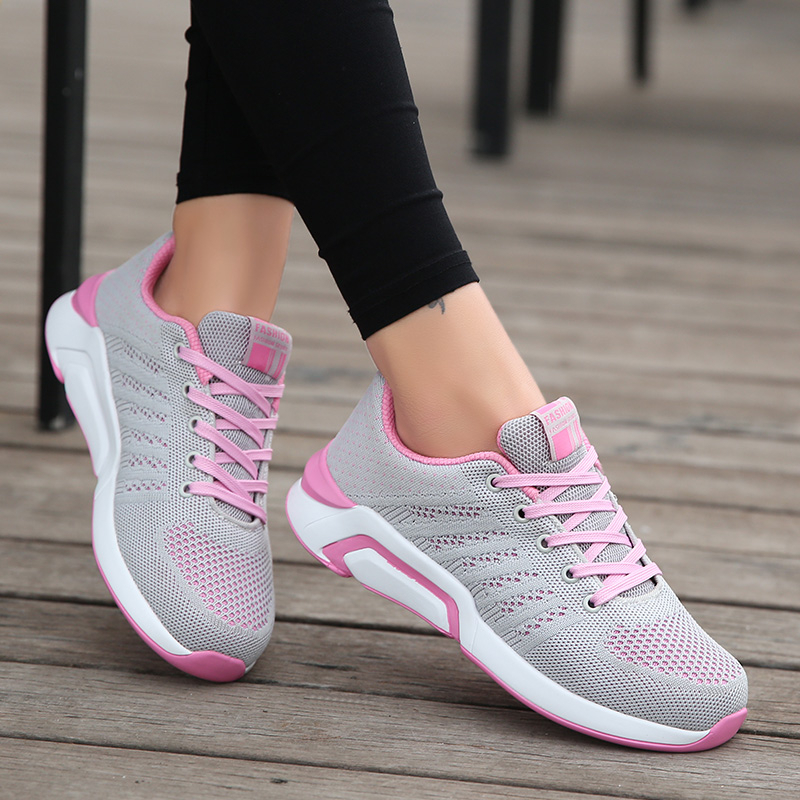 Casual Women/'s Running Shoes Breathable Sneaker Trainers Lace Up Sport Shoe Size