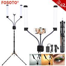 Fosoto Ft 450 Multimedia Extreme Met Selfie Functie Fotografie Licht Led Video Licht Lamp Ring Met Statief Voor Make Up youtube