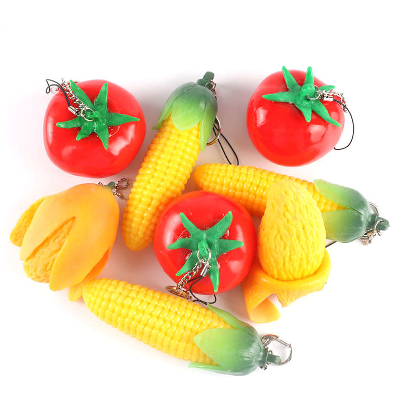 Food Toy Simulation Mango Tomato Pretend Play Set Stretchy Slow Rising Model Stress Relief Kids Toys