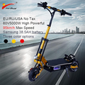 95 km/h Puissant puissant electric scooter 11 hors route planche a roulettes 5000W Longboard pliable velo electrique hoverboad