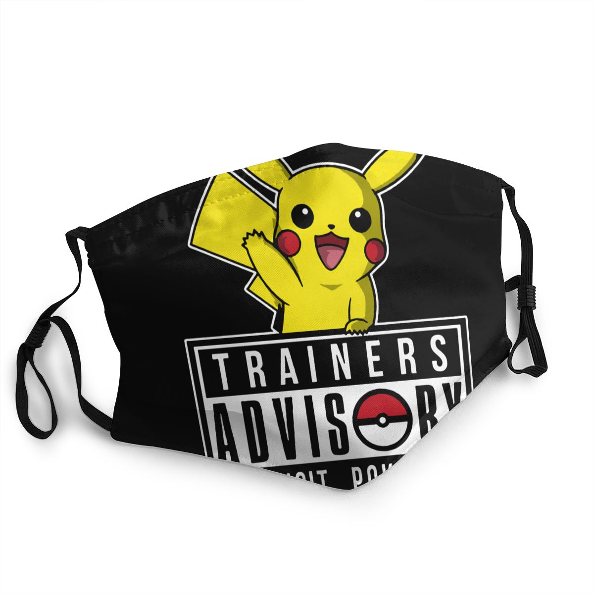 Trainers Advisory Pokemon Pikachu Non-Disposable Mouth Face Mask Anti Bacterial Dust Mask Protection Mask Respirator Muffle