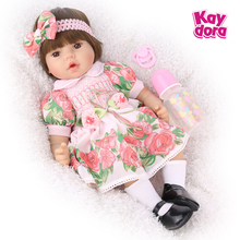 Zabawki dla dzieci 48cm żywe Bebe Reborn Baby Girl lalki realistyczne w stylu księżniczki Menina maluch dziecko urodziny niespodzianka prezenty bożonarodzeniowe
