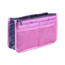 Portable Double Zipper Bag Multi-function Storage Bag Toiletry Cosmetic Storage Bag Large Finishing Bag rose diary new multi function transparent mesh beauty zipper travel cosmetic bag portable toile pouch pencil bag purse bag