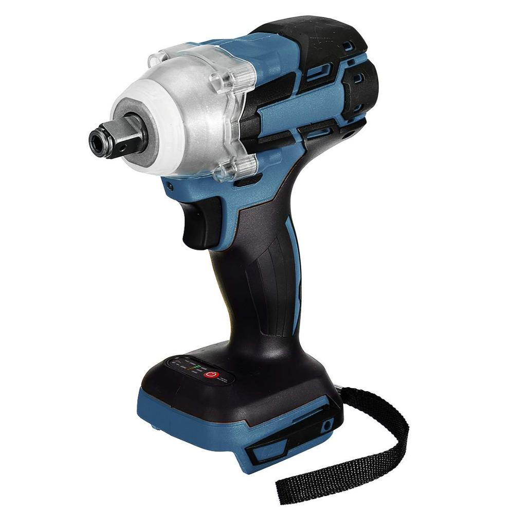 18V 588Nm Brushless Rechargeable Electric Impact Wrench 1/2 Socket Wrench Power Tool Cordless Without Battery Accessories