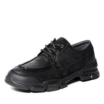 Oryginalne skórzane obuwie męskie miękkie podeszwy sznurowane męskie luksusowe buty męskie buty designerskie męskie buty biznesowe męskie buty tanie i dobre opinie 梵嵩 Prawdziwej skóry Skóra bydlęca RUBBER 20191015 Lace-up Pasuje prawda na wymiar weź swój normalny rozmiar Podstawowe