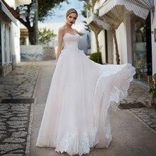 BAZIIINGAAA ++Без рукавов Off Плечо Простой Шелк Органза Свадьба Открытая спина Ремешок Мода Невеста Поддержка По индивидуальному заказу