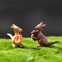 Australia Kangaroo Mother and Son Oceania Gift Model Small Statue Figurine Crafts Ornament Miniatures DIY Home Decoration(China)